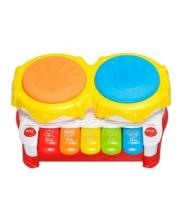Развивающая игрушка Первые уроки музыки с барабаном пианино 3 музыкальных режима Жирафики