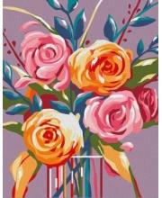 Роспись по холсту Нежные розы Артвентура