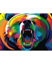 Роспись по холсту Радужный Медведь А4 Артвентура