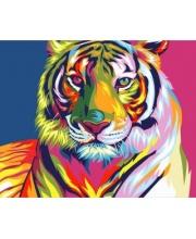 Роспись по холсту Радужный тигр Артвентура
