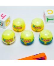 Слайм желтый с шариками капсула 40 гр Плюх
