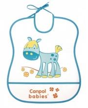 Нагрудник пластиковый мягкий Canpol Babies