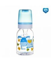 Бутылочка тритановая с силиконовой соской 120 мл. 3+ Cheerful animals Canpol Babies