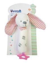 Игрушка-пищалка Baby bunny Uviton