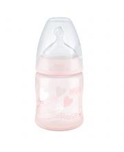 Бутылочка Baby Rose из ПП 150 мл с силиконовой соской с отверстием М
