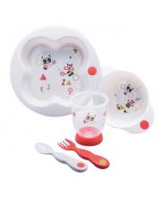 Набор посуды Sport тарелка миска стаканчик ложка и вилка Bebe Confort