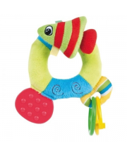 Мягкая погремушка с прорезывателем Цветной океан форма: рыбка Canpol Babies