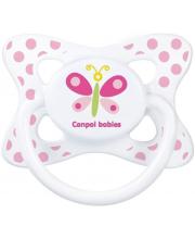 Пустышка Summertime симметричная силикон рисунок Бабочка Canpol Babies
