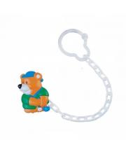 Клипса-держатель для пустышки Animals рисунок Мишка Canpol Babies