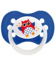 Пустышка Owl симметричная силикон Canpol Babies