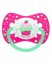 Пустышка Cupcake симметричная силикон Canpol Babies