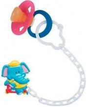 Клипса-держатель для пустышки Animals рисунок Слоник Canpol Babies