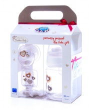 Набор Newborn baby бутылочка 120 мл пустышка клипса для пустышки Canpol Babies