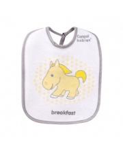 Нагрудник х/б махровый 3 штуки рисунок лошадка Canpol Babies