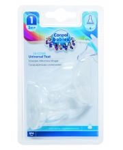 Соска универсальная антиколиковая силикон 2 штуки медленный поток Canpol Babies