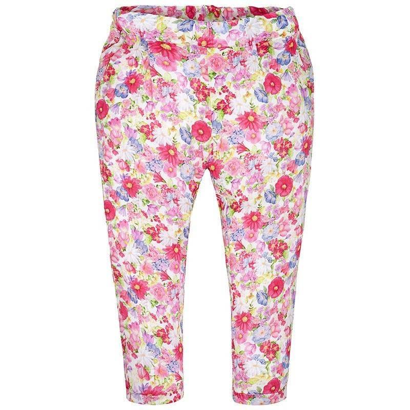 БрюкиБрюкималиновогоцвета марки Mayoral для девочек.<br>Легкие брюки, выполненные из вискозы, украшенынежным цветочным принтом, а также дополнены небольшими карманами и на талииспециальной резинкой на пуговицах.<br><br>Размер: 8 лет<br>Цвет: Малиновый<br>Рост: 128<br>Пол: Для девочки<br>Артикул: 641342<br>Страна производитель: Марокко<br>Сезон: Весна/Лето<br>Состав: 100% Вискоза<br>Бренд: Испания