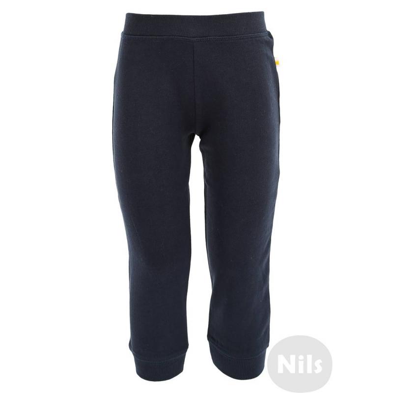БрюкиСпортивные брюки темно-синего цвета марки BLUE SEVEN. Брюки из стопроцентного хлопкового трикотажа с начесом. Есть удобный эластичный пояс на резинке и манжеты на штанинах<br><br>Размер: 9 месяцев<br>Цвет: Темносиний<br>Рост: 74<br>Пол: Для мальчика<br>Артикул: 604572<br>Страна производитель: Бангладеш<br>Сезон: Всесезонный<br>Состав: 100% Хлопок<br>Бренд: Германия