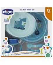 Набор детской посуды 5 предметов Chicco