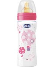Бутылочка Well-Being Girl латексная соска РР 330 мл Chicco