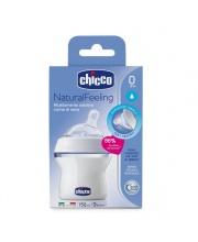 Бутылочка Natural Feeling силиконовая соска с наклоном PP 150 мл Chicco