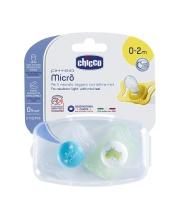 Пустышка Micro для принца силикон 2 штуки Chicco
