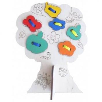 Игрушки, Шнуровка Дерево Мастер Вуд 632672, фото
