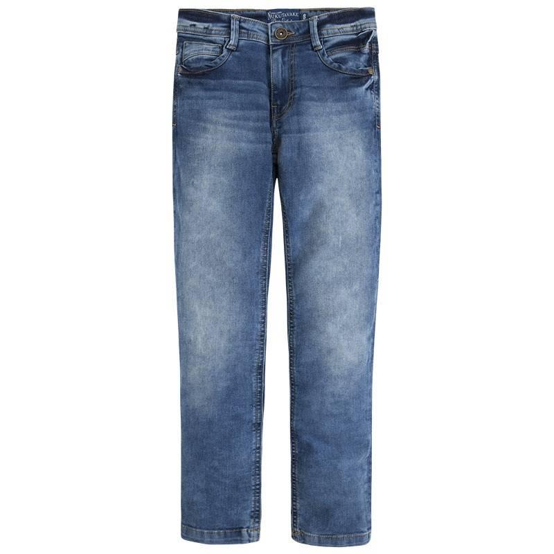 ДжинсыДжинсысинегоцвета марки Mayoral длямальчиков.<br>Стильные джинсы,декорированныеэффектомпотертости, дополнены карманами и шлевками на поясе. А также модель регулируется на талии специальной резинкой на пуговицах.<br><br>Размер: 12 лет<br>Цвет: Синий<br>Рост: 152<br>Пол: Для мальчика<br>Артикул: 641648<br>Страна производитель: Пакистан<br>Сезон: Весна/Лето<br>Состав: 99% Хлопок, 1% Эластан<br>Бренд: Испания<br>Вид застежки: Молния