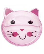Тарелка с разделением Animals форма: котёнок Canpol Babies