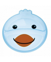 Тарелка с разделением Animals форма: птичка Canpol Babies