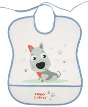 Нагрудник пластиковый мягкий рисунок: собачка Canpol Babies