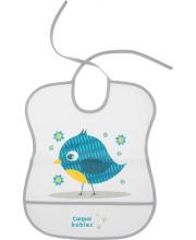 Нагрудник пластиковый мягкий рисунок: птичка Canpol Babies