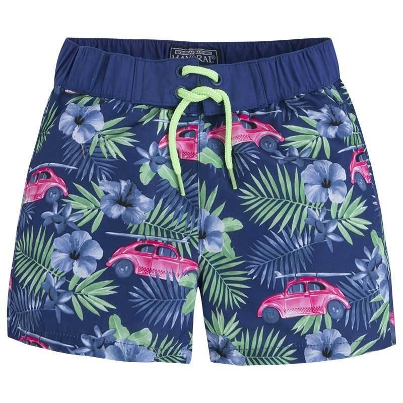 Шорты для купанияШорты для купаниятемно-синегоцвета марки Mayoralдля мальчиков.<br>Шортывыполнены в насыщенном цветеи декорированы ярким принтом в гавайском стиле. Модель дополнена удобной широкой резинкой на поясе, карманами, а также сеточкой.<br><br>Размер: 8 лет<br>Цвет: Темносиний<br>Рост: 128<br>Пол: Для мальчика<br>Артикул: 641432<br>Страна производитель: Китай<br>Сезон: Весна/Лето<br>Состав: 100% Полиэстер<br>Состав подкладки: 100% Полиэстер<br>Бренд: Испания