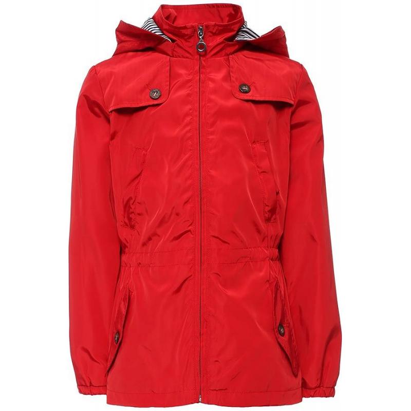 КурткаКуртка красногоцвета марки Finn Flare для девочек.<br>Стильная куртка-ветровка выполнена в насыщенномцвете. Хлопковаяподкладка декорирована принтом в сине-белую полоску. Модель дополнена отстегивающимся капюшоном и четырьмякарманами, а также кулиской на талии.<br><br>Размер: 11 лет<br>Цвет: Красный<br>Рост: 146<br>Пол: Для девочки<br>Артикул: 640365<br>Страна производитель: Китай<br>Сезон: Весна/Лето<br>Состав: 100% Полиэстер<br>Состав подкладки: 95% Хлопок, 5% Полиэстер<br>Бренд: Финляндия<br>Вид застежки: Молния