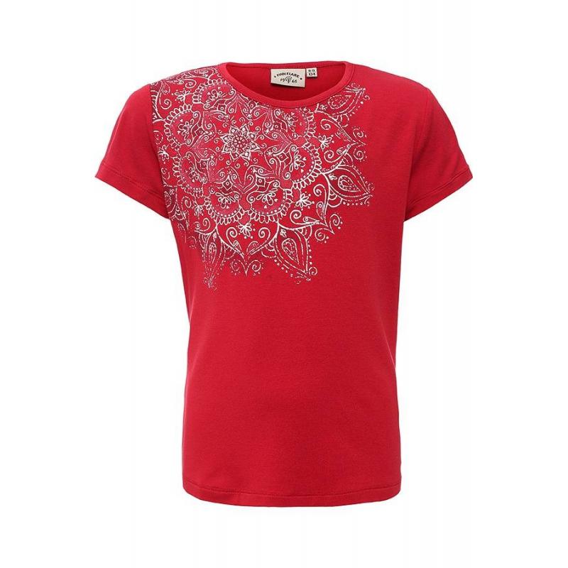 Футболка - Finn FlareФутболка красногоцвета марки Finn Flare для девочек.<br>Однотонная футболка с коротким рукавом выполнена в насыщенном цвете и выгодно дополнена белым цветочным узором.<br><br>Размер: 9 лет<br>Цвет: Красный<br>Рост: 134<br>Пол: Для девочки<br>Артикул: 645463<br>Страна производитель: Вьетнам<br>Сезон: Весна/Лето<br>Состав: 95% Вискоза, 5% Эластан<br>Бренд: Финляндия