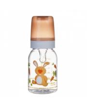 Бутылочка Cheerful animals силиконовая соска 120 мл зайка Canpol Babies
