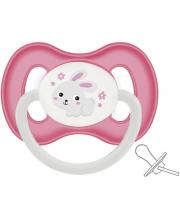 Пустышка симметричная Bunny & company силикон Canpol Babies