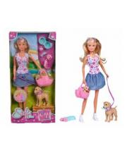 Кукла Штеффи набор Прогулка с питомцами Simba