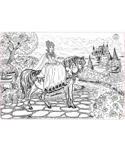 Коврик-раскраска большой Принцесса размер 68х48 см ЯиГрушка