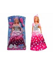 Кукла в блестящем платье и тиарой Steffi