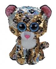 Мягкая игрушка леопард с пайетками 15 см TY