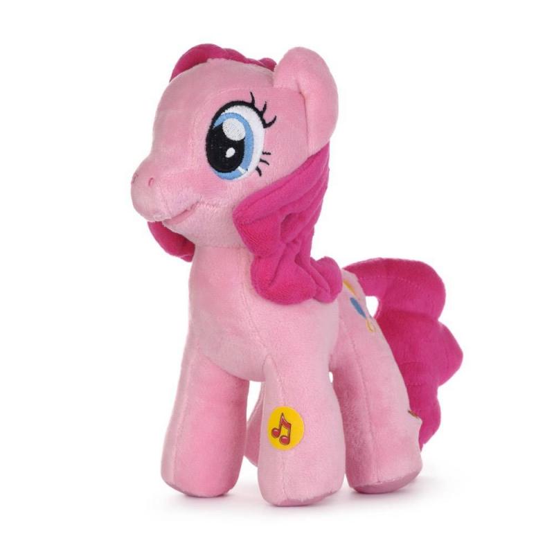 Мягкая игрушка Пони Пинки ПайМягкая интерактивная игрушка Пони Пинки Пай из мультфильмаMy Little PonyмаркиМульти-Пульти.<br>Главная героиня волшебного детского сериала про сказочных пони My Little Pony - Пинки Пай. Плюшевая лошадка может произносить фразы и петь песенку. При этом у нее смешно подсвечивается носик.Для активации звуковой функции достаточно нажать Пинки Пай на ногу.Сериал про волшебных пони любят не только дети. Жизнерадостная и общительная пони Пинки Пай-главный персонаж в мультике, об этой игрушке мечтает многие поклонницы сериала. <br>Высота игрушки: 23 см<br><br>Возраст от: 3 года<br>Пол: Для девочки<br>Артикул: 633183<br>Бренд: Россия<br>Лицензия: My Little Pony<br>Размер: от 3 лет