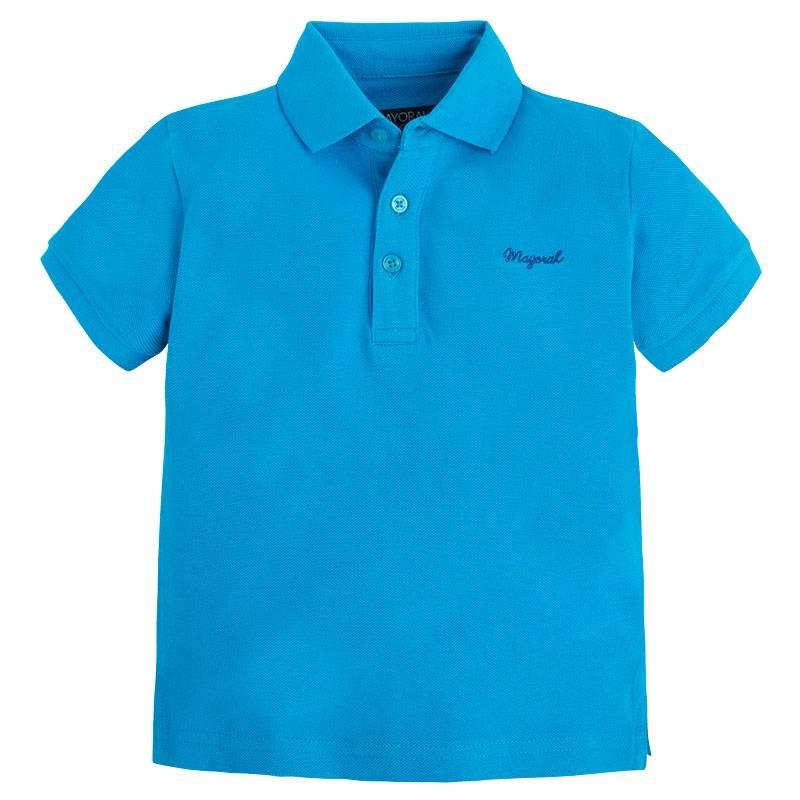 Рубашка-полоРубашка-поло голубогоцвета марки Mayoralдля мальчиков.<br>Базовое поло с короткимрукавомвыполнено из чистого хлопка и декорировано вышитым логотипом брендатемно-синего цвета.<br><br>Размер: 6 лет<br>Цвет: Голубой<br>Рост: 116<br>Пол: Для мальчика<br>Артикул: 642456<br>Страна производитель: Бангладеш<br>Сезон: Весна/Лето<br>Состав: 100% Хлопок<br>Бренд: Испания