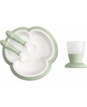 Набор для кормления тарелка ложка вилка кружка BabyBjorn