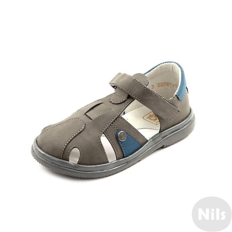СандалетыСандалеты темно-серогоцвета марки Топ-Топ для мальчиков.<br>Стильные сандалеты на липучке выполнены в насыщенном цвете и выгодно подчеркнуты синимивставками.Подошва из ТЭП легкая и упругая,такжеимеет высокую стойкость к истиранию, такая обувь прослужит долго. Стелька из натуральной кожи позволяет ножкам дышать и отличается исключительной мягкостью.<br><br>Размер: 25<br>Цвет: Темносерый<br>Пол: Для мальчика<br>Артикул: 641831<br>Бренд: Россия<br>Страна производитель: Россия<br>Сезон: Весна/Лето<br>Материал верха: Искусственная кожа<br>Материал стельки: Натуральная кожа<br>Материал подошвы: ТЭП (термопластик)