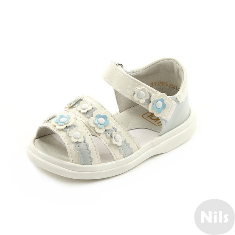 СандалетыСандалетыбелогоцвета марки Топ-Топдлядевочек.<br>Нежныесандалеты на липучке выгодно подчеркнуты вставками голубого цвета, а также милыми цветочками. Подошва из ТЭП легкая и упругая,такжеимеет высокую стойкость к истиранию, такая обувь прослужит долго. Стелька из натуральной кожи позволяет ножкам дышать и отличается исключительной мягкостью.<br><br>Размер: 22<br>Цвет: Белый<br>Пол: Для девочки<br>Артикул: 641845<br>Бренд: Россия<br>Страна производитель: Россия<br>Сезон: Весна/Лето<br>Материал верха: Искусственная кожа<br>Материал стельки: Натуральная кожа<br>Материал подошвы: ТЭП (термопластик)