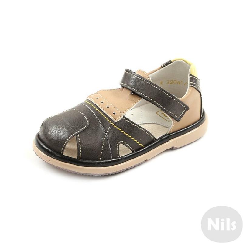 СандалетыСандалеты темно-серогоцвета марки Топ-Топ для мальчиков.<br>Стильные сандалеты на липучке выполнены в насыщенном цвете и выгодно подчеркнуты бежевымивставками.Подошва из ТЭП легкая и упругая,такжеимеет высокую стойкость к истиранию, такая обувь прослужит долго. Стелька из натуральной кожи позволяет ножкам дышать и отличается исключительной мягкостью.<br><br>Размер: 25<br>Цвет: Темносерый<br>Пол: Для мальчика<br>Артикул: 641827<br>Страна производитель: Россия<br>Сезон: Весна/Лето<br>Материал верха: Искусственная кожа<br>Материал стельки: Натуральная кожа<br>Материал подошвы: ТЭП (термопластик)<br>Бренд: Россия