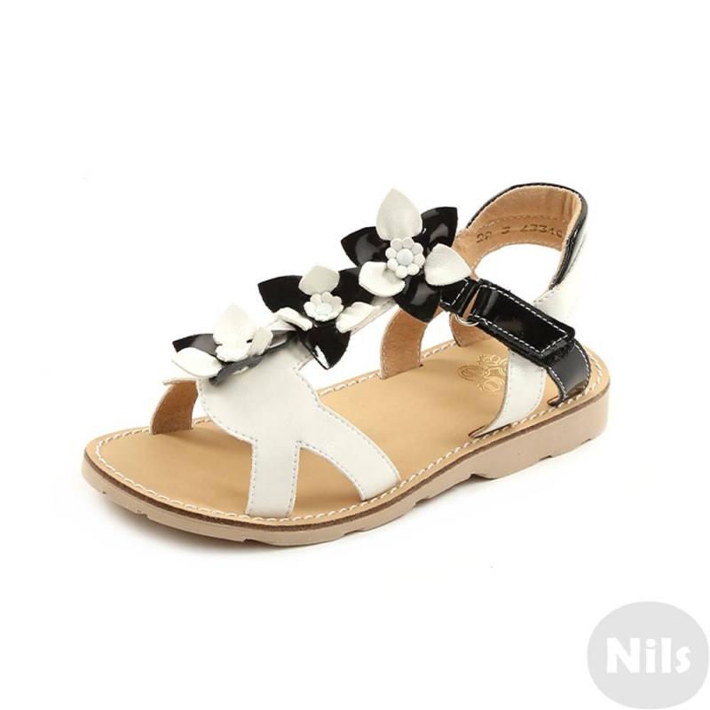 СандалетыСандалетыбелогоцвета марки Топ-Топдлядевочек.<br>Стильные сандалеты на липучке выгодно подчеркнуты вставками черного цвета, а также милыми цветочками.Подошва из ТЭП легкая и упругая,такжеимеет высокую стойкость к истиранию, такая обувь прослужит долго. Стелька из натуральной кожи позволяет ножкам дышать и отличается исключительной мягкостью.<br><br>Размер: 29<br>Цвет: Белый<br>Пол: Для девочки<br>Артикул: 641863<br>Страна производитель: Россия<br>Сезон: Весна/Лето<br>Материал верха: Искусственная кожа<br>Материал стельки: Натуральная кожа<br>Материал подошвы: ТЭП (термопластик)<br>Бренд: Россия