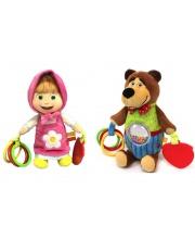 Набор плюшевых игрушек-погремушек Маша и Медведь