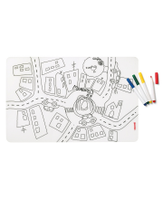 Набор из коврика-раскраски и 4 маркеров Bimbi Guzzini