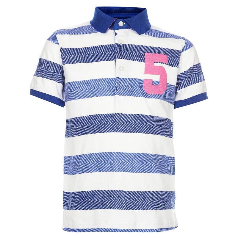 Рубашка-полоРубашка-поло синегоцвета марки Mayoralдля мальчиков.<br>Поло с короткимрукавом выполнено из чистого хлопка. Модель декорированабелыми полосками,а также аппликацией с изображением цифры пять.<br><br>Размер: 6 лет<br>Цвет: Синий<br>Рост: 116<br>Пол: Для мальчика<br>Артикул: 641081<br>Страна производитель: Индия<br>Сезон: Весна/Лето<br>Состав: 100% Хлопок<br>Бренд: Испания